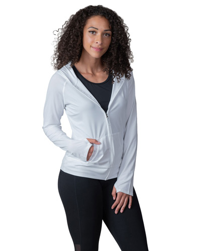 Ladies' Endurance Full-Zip Hooded Sweatshirt with Back Mesh