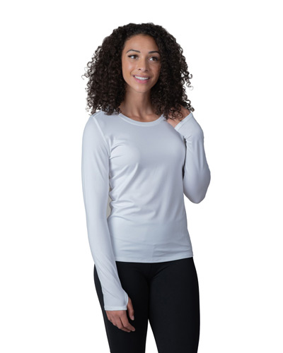 Ladies' Endurance Long-Sleeve T-Shirt with Back Mesh Insert