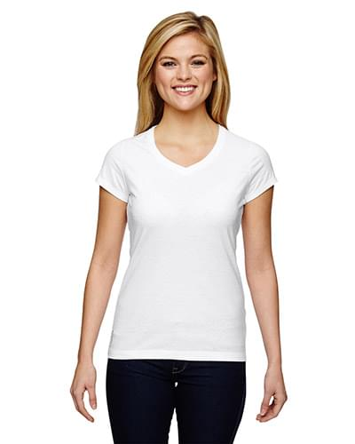 Ladies' Vapor Cotton Short-Sleeve V-Neck T-Shirt