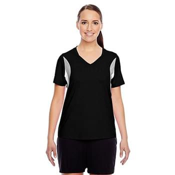 Ladies' Short-Sleeve Athletic V-Neck Tournament Jersey