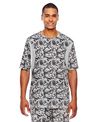 Men's Short-Sleeve Athletic V-Neck Tournament Sublimated Camo Jersey