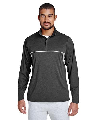 Men's Excel Mlange Interlock Performance Quarter-Zip Top