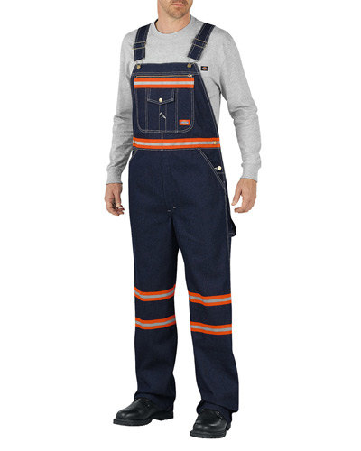 Men's Enhanced Visibility Denim Bib Overall