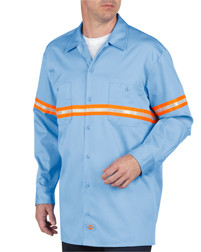 Unisex Enhanced Visibility Long-Sleeve Twill Work Shirt