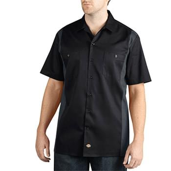 Men's Two-Tone Short-Sleeve Work Shirt