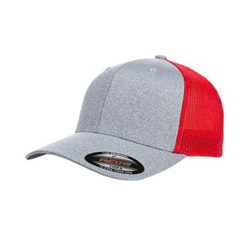 Adult Poly Mlange Stretch Mesh Cap